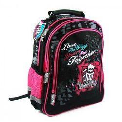 Plecak szkolny Monster High czarno-różowy