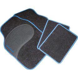 Zestaw dywaników samochodowych Eufab 28027 Diamond, czarny/niebieski
