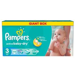 Pampers Active Baby Giant Pack+ Midi