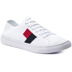f30d153dd1f24 Tenisówki TOMMY HILFIGER - Knitted Flag Lightweight Sneaker FW0FW04150  White 100. eobuwie.pl