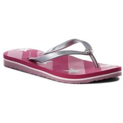282395a66e98d Japonki TOMMY HILFIGER - Stars And Stripes Beach Sandal FW0FW02384 Bright  Rose 633