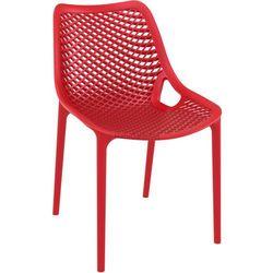 Designerskie krzesło eventowe w ekonomicznej cenie Air z tworzywa czerwone