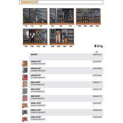 WÓZEK NARZĘDZIOWY 2400/C24SL Z ZESTAWEM NARZĘDZI, 151 ELEMENTY, MODEL 2400SL-R/VI2T, CZERWONY