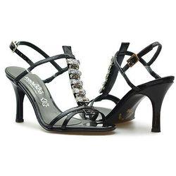 Sandały Zodiaco A250P Czarne lakierowane