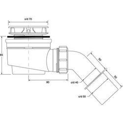 Syfon brodzikowy 50 McALPINE HC252570B