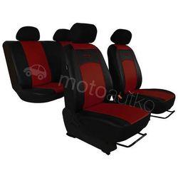 Pokrowce samochodowe uniwersalne Eko-skóra Bordowe BMW Seria 1 F20/F21 od 2011 - Bordowy