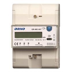 Orno Licznik zużycia energii elektrycznej 3F 3x20(120)A OR-WE-507