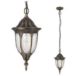 Zewnętrzna LAMPA wisząca MILANO 8374 Rabalux OPRAWA ogrodowa ZWIS klasyczny outdoor złoto antyczne
