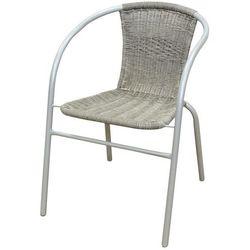 Krzesło ogrodowe FLORALAND z plecionym oparciem popielaty JLC307