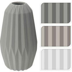 Wazon ceramiczny 30 cm - biały - wzór 1