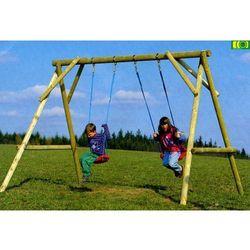 Drewniana huśtawka dla dzieci