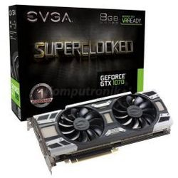 EVGA GeForce ® GTX 1070 SC ACX 3.0 8GB GDDR5 VR Ready