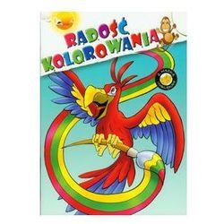 Radość kolorowania papuga
