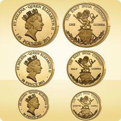 Zestaw złotych monet Gwinea - wysyłka 24 h!