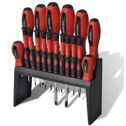 Zestaw 18 śrubokrętów ze stojakiem na narzędzia Zapisz się do naszego Newslettera i odbierz voucher 20 PLN na zakupy w VidaXL!