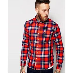 Lee Shirt Slim Fit One Pocket Flannel Check - Red