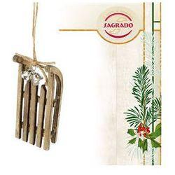 Ozdoba choinkowa - sanki - drewniane