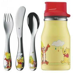WMF Sztućce dla Dzieci - Zestaw 3 El. + Butelka Kubuś Puchatek