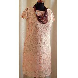 Suknia gipiura w kolorze pudrowym