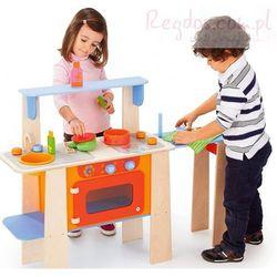 Drewniana kuchnia Maxi z wysuwanym stolikiem i akcesoriami!