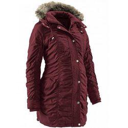 Zimowa kurtka ciążowa bonprix czerwony klonowy
