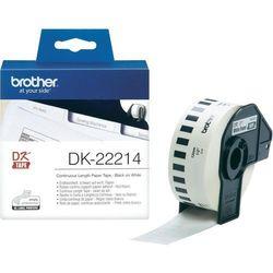 Taśma papierowa ciągła DK-22214 do drukarek Brother serii QL (12mm x 30.48m)