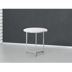 Nowoczesny stolik kawowy bialy - lawa - stól - 50x50 cm - TRIBECA