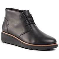 Botki CLARKS - Sharon Hop 261471214 Black Leather
