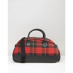 Fred Perry Tartan Holdall - Red