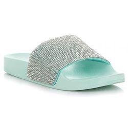 5ee1f480 ... la mer kolor brazowy) w kategorii Klapki damskie . Modne Buty Damskie  Klapki z kryształkami renomowanej marki Ideal Shoes Miętowe (kolory)
