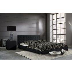 SARA eleganckie łóżko tapicerowane - czarny \ 180 x 200 cm