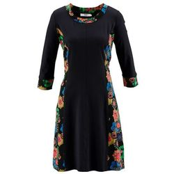 a7b8f1e790 suknie sukienki sukienka z rekawem 3 4 z nadrukiem z etaminy wiskoza ...