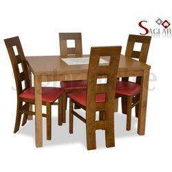 Zestaw TYBER I 4 krzesła i stół 80x120/150