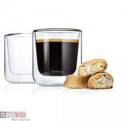 Szklanki na kawę lub herbatę z podwójną ścianką Blomus Nero B63653