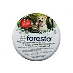 BAYER Foresto - Obroża obroża przeciw pchłom i kleszczom dla kotów i małych psów (dł. 38cm)