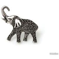 BROSZKA SŁOŃ NA SZCZĘŚCIE retro boho japan style słoń