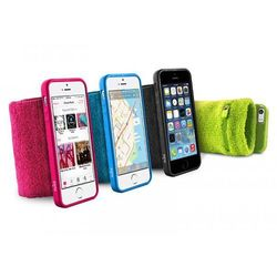 Rovens.pl PURO Running Band - Frotka do biegania z etui iPhone 5/5s/SE + key pocket (czarny)