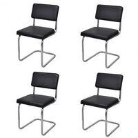 Krzesła jadalniane x4 Nowoczesny design Sztuczna skóra Zapisz się do naszego Newslettera i odbierz voucher 20 PLN na zakupy w VidaXL!