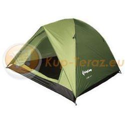 Namiot turystyczny 3 osobowy lekki z tropikiem King Camp FAMILY 2 plus 1 zielony