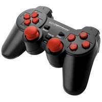 "Gamepad PS3/PC USB Esperanza ""Trooper"" czarno/czerwony"