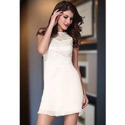 Plisowana sukienka z koronką | sukienki, plisowanka