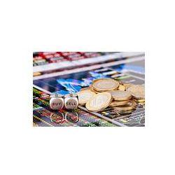 Foto naklejka samoprzylepna 100 x 100 cm - Kostka kostki z napisem sprzedam Kupię, monety jednego euro i Financ