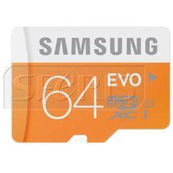Karta pamięci Samsung Micro SD z adapterem EVO Up to 48MB/S 64GB - MB-MP64DA/EU