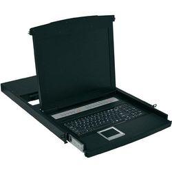 """Konsola KVM Digitus z ekranem 48, 3cm ( 19"""") TFT, ze zintegrowanymi 8 portami, przełącznikiem KVM, klawiaturą i touchpadem (DS-72012US) Darmowy odbiór w 19 miastach!"""