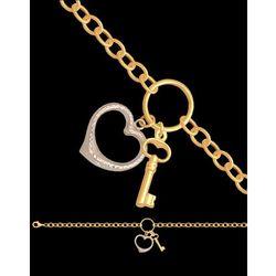?bransoletka złota serce i kluczyk