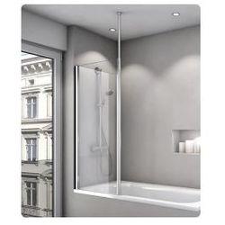 Parawan nawannowy jednoczęściowy SanSwiss FUN 80 cm, połysk, szkło przeźroczyste FB2080005007