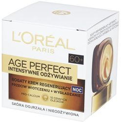 Loreal Paris Age Perfect Intensywne Odżywianie Bogaty regenerujący krem do twarzy na noc 50 ml