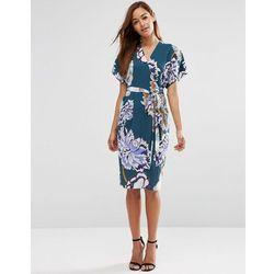 ASOS Floral Obi Wrap Dress - Multi