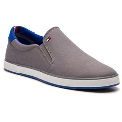 65d2747ab88ab Tenisówki TOMMY HILFIGER - Iconic Slip On Sneaker FM0FM00597 Steel Grey 039