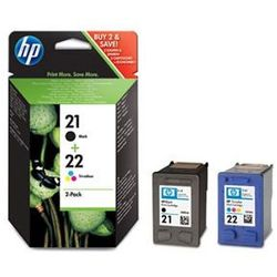 Tusz HP SD367AE czarny i trójkolorowy nr 21 nr 22 dwupak oryginał